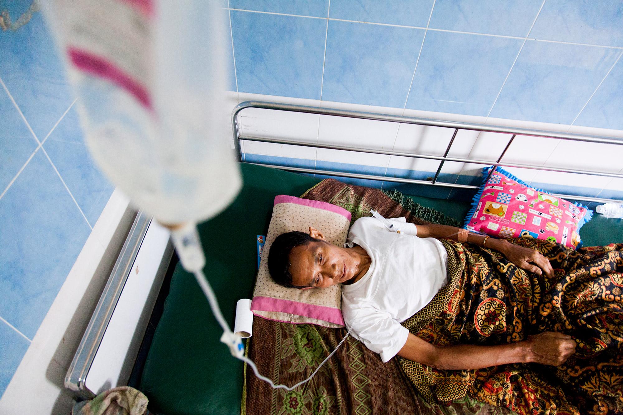 Man in Savannakhet Hospital