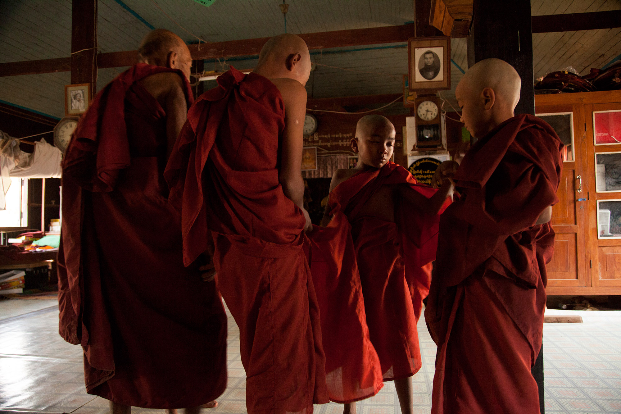 Novice Monks in New Robes