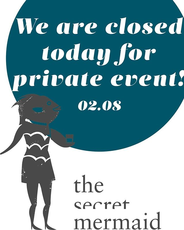 See you next monday 🍸😉 . If you're interested in holding a private event with us, email to drink@thesecretmermaid.com for more information.