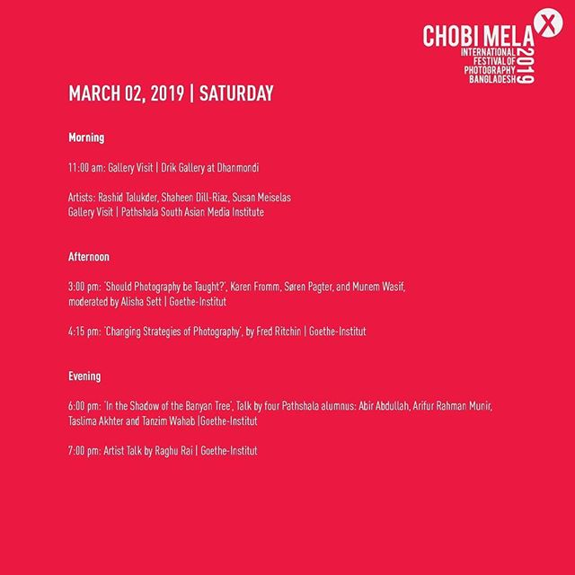 Day 3, Schedule for todays programs  For event registration go through the link: https://form.jotform.me/Chobimela/Event-Registration  For full schedule visit: http://www.chobimela.org/schedule