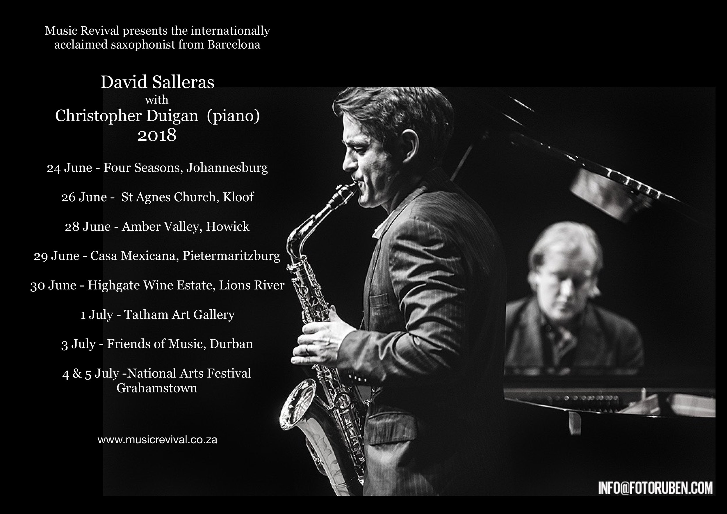 David Salleras and Christopher Duigan tour 2018