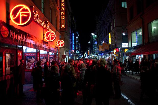 Filmvisning under festivalen i november