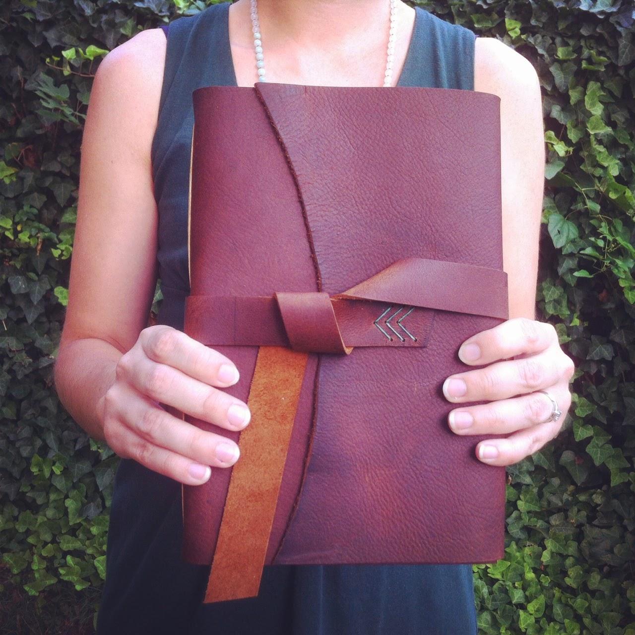 Handbound leather journal by Katie Gonzalez