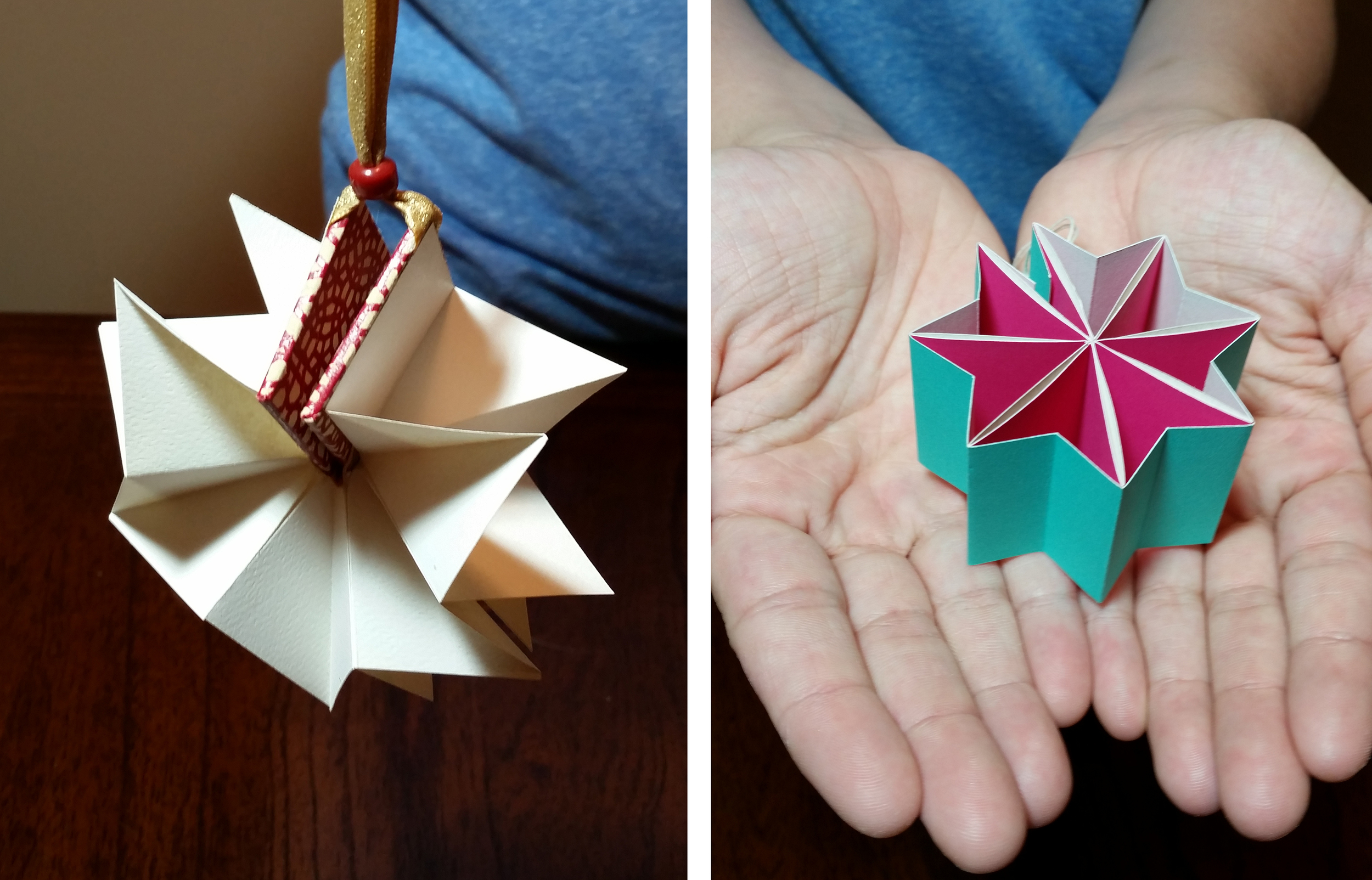 handmade book ornaments
