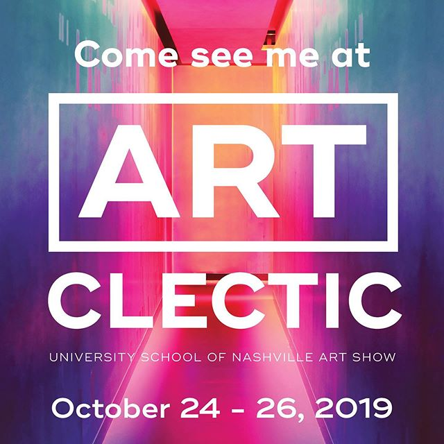 I'm thrilled to announce that I'll be exhibiting my work at @artclecticnashville again this year! I have oh-so-many new handmade books in the works, and I hope you'll come see them in person in October.