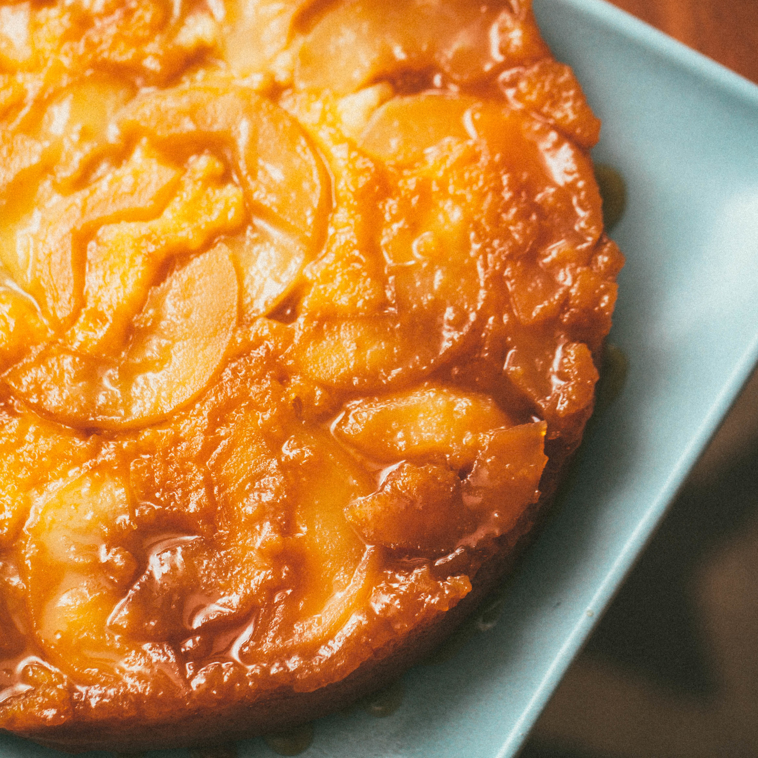 Maple-apple upside-down buttermilk cake