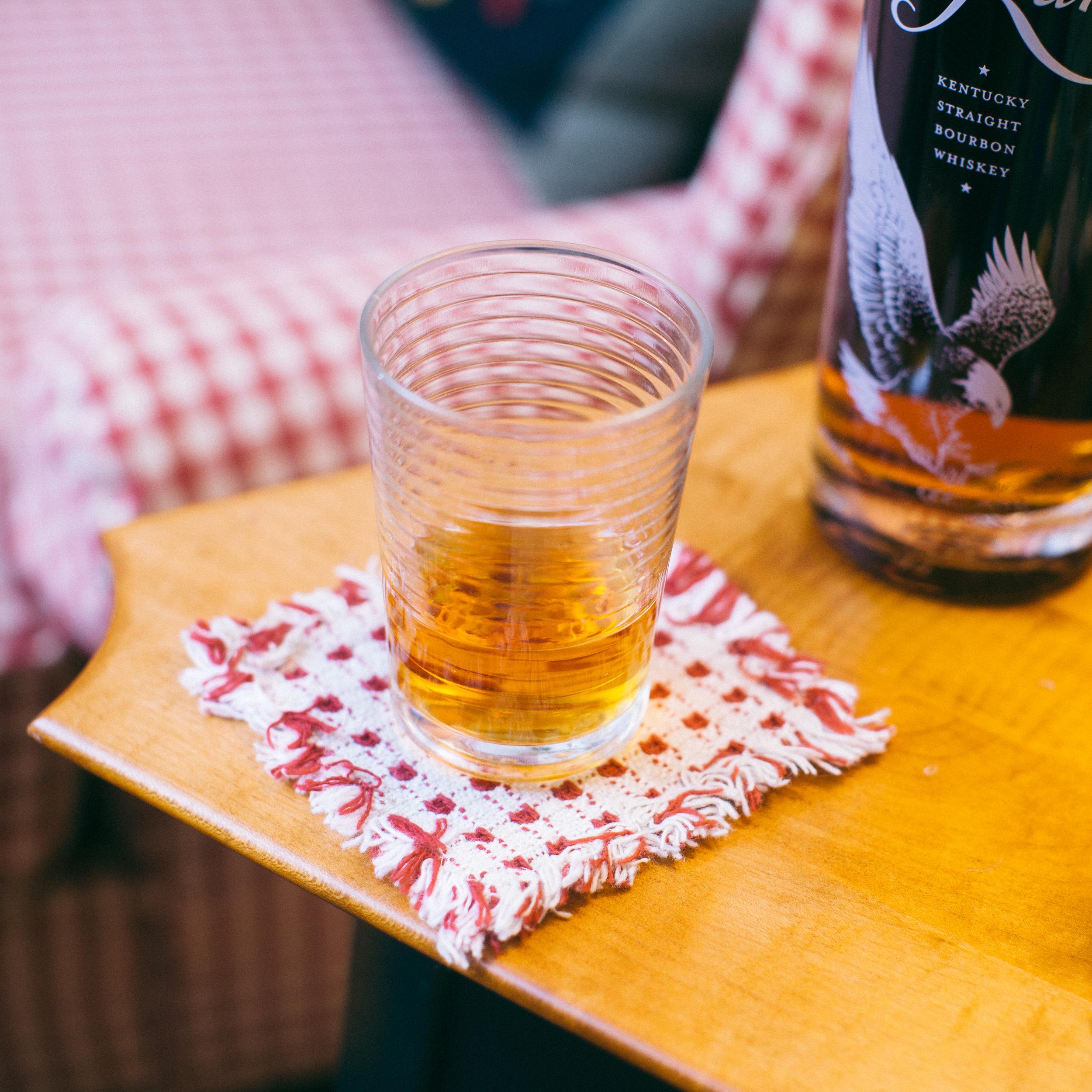 Eagle Rare Kentucky straight bourbon whiskey, neat.