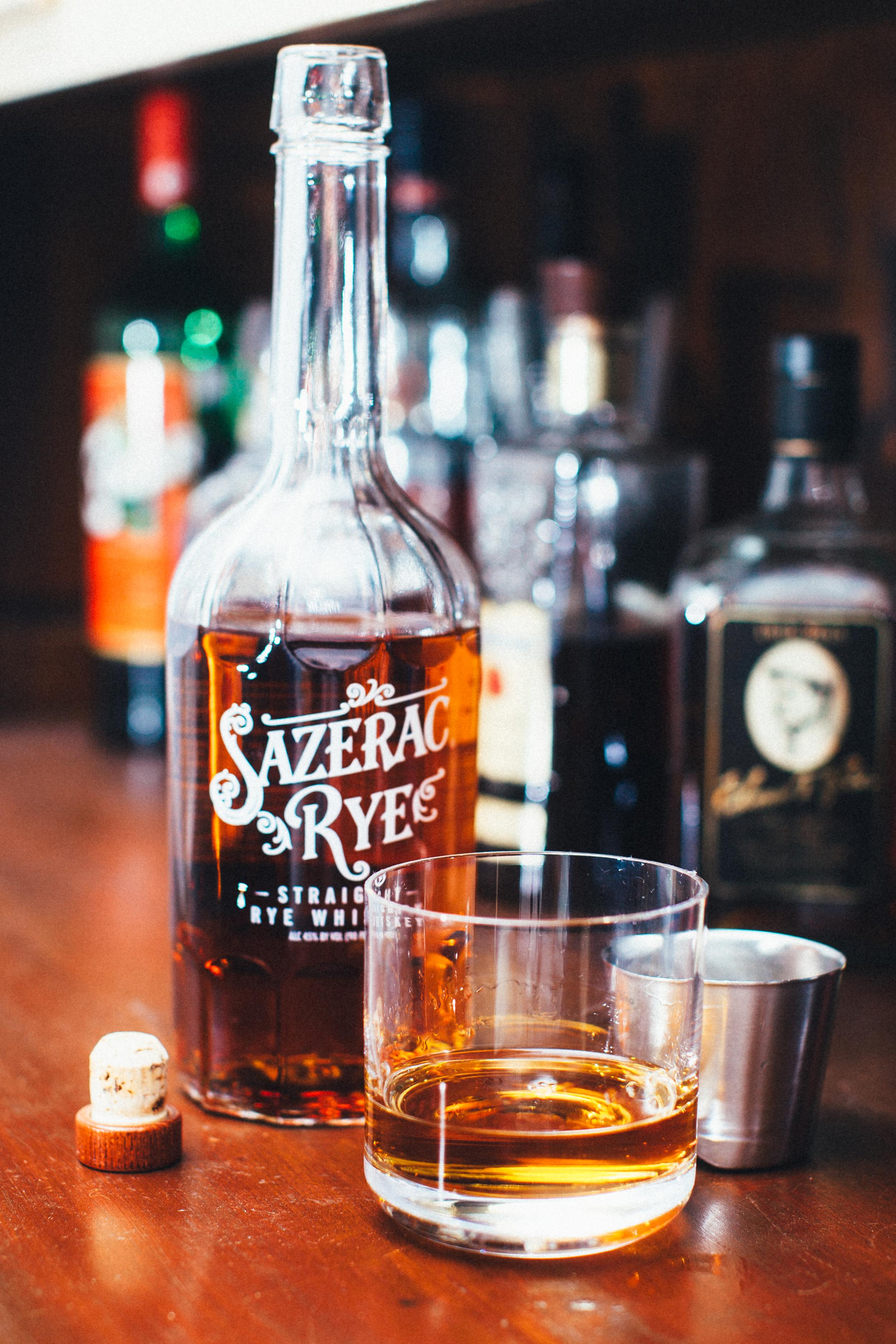 Sazerac straight rye whiskey
