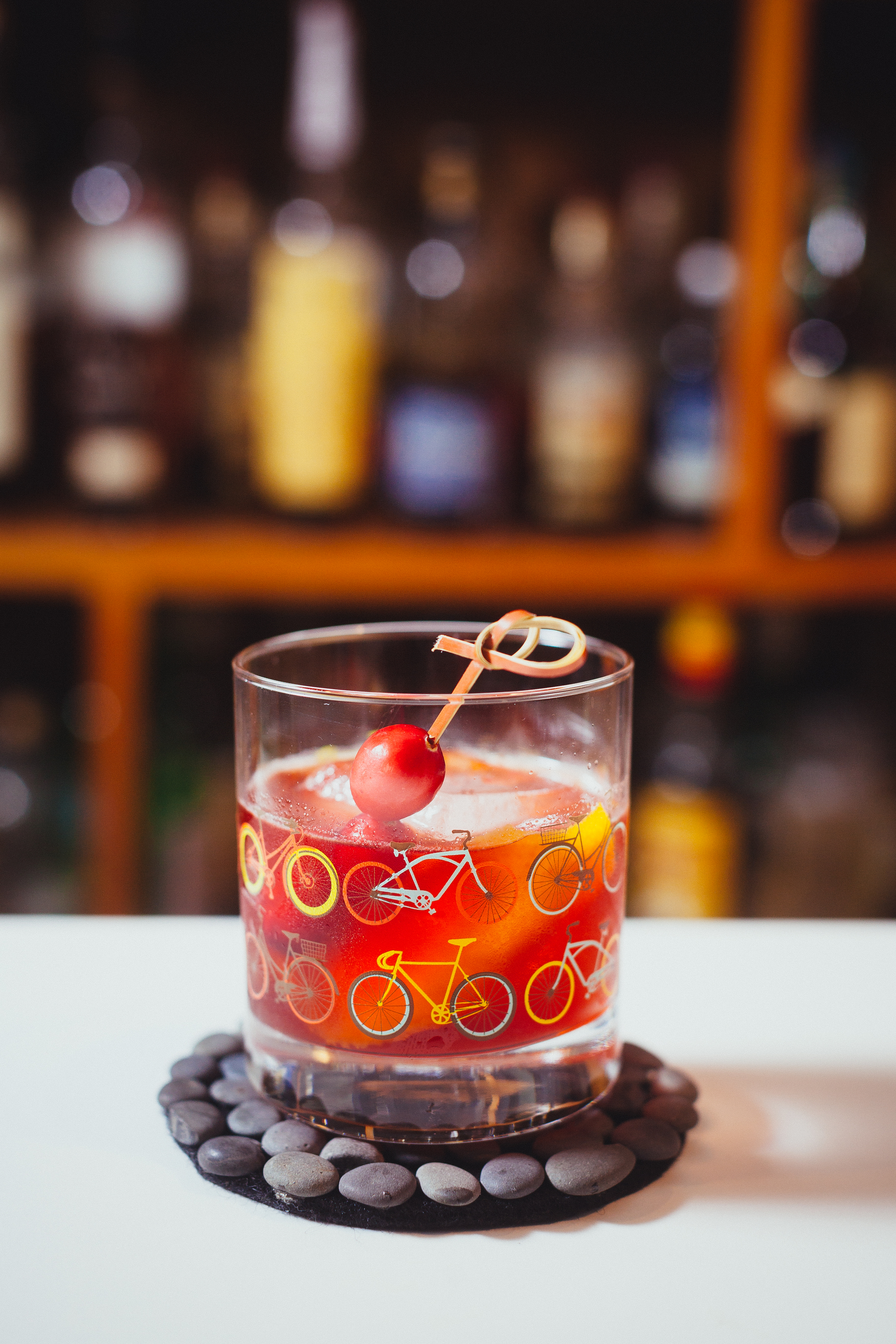 Cranberry and maple old fashioned