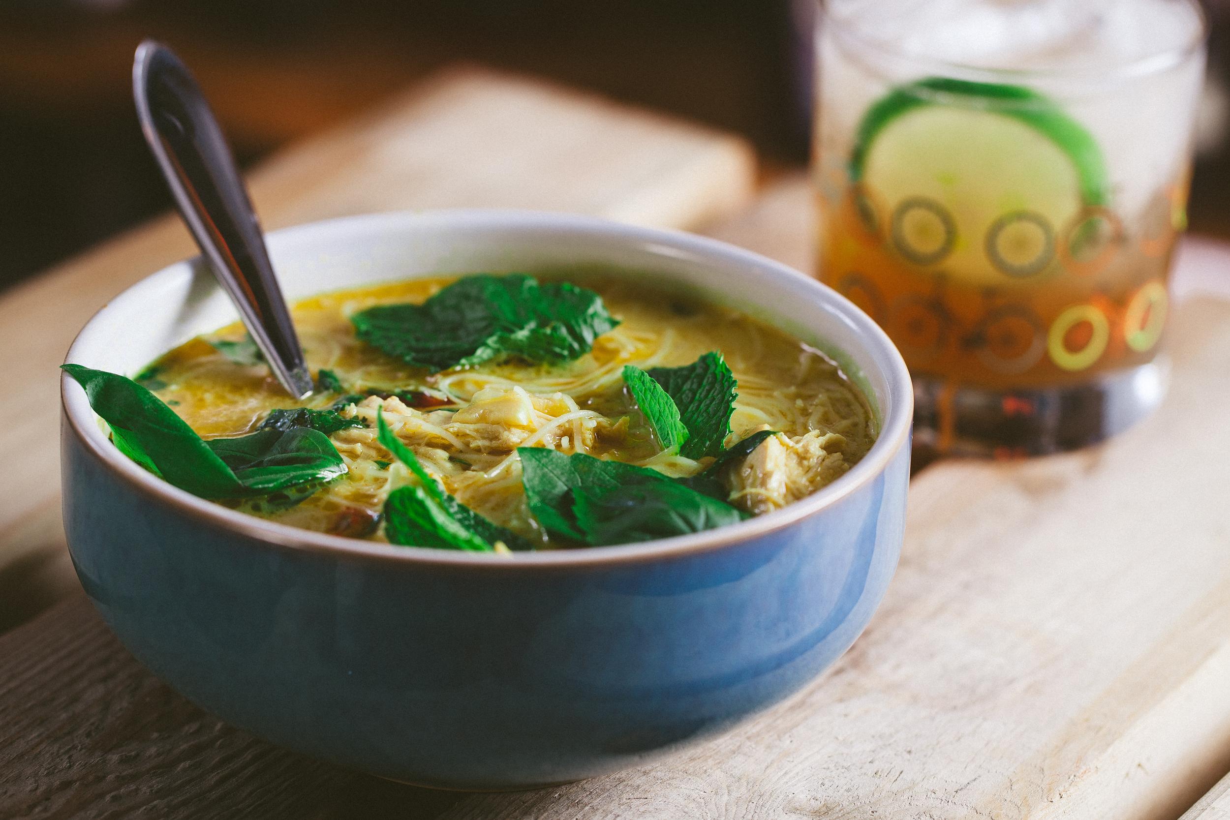 Spicy Vietnamese chicken noodle soup