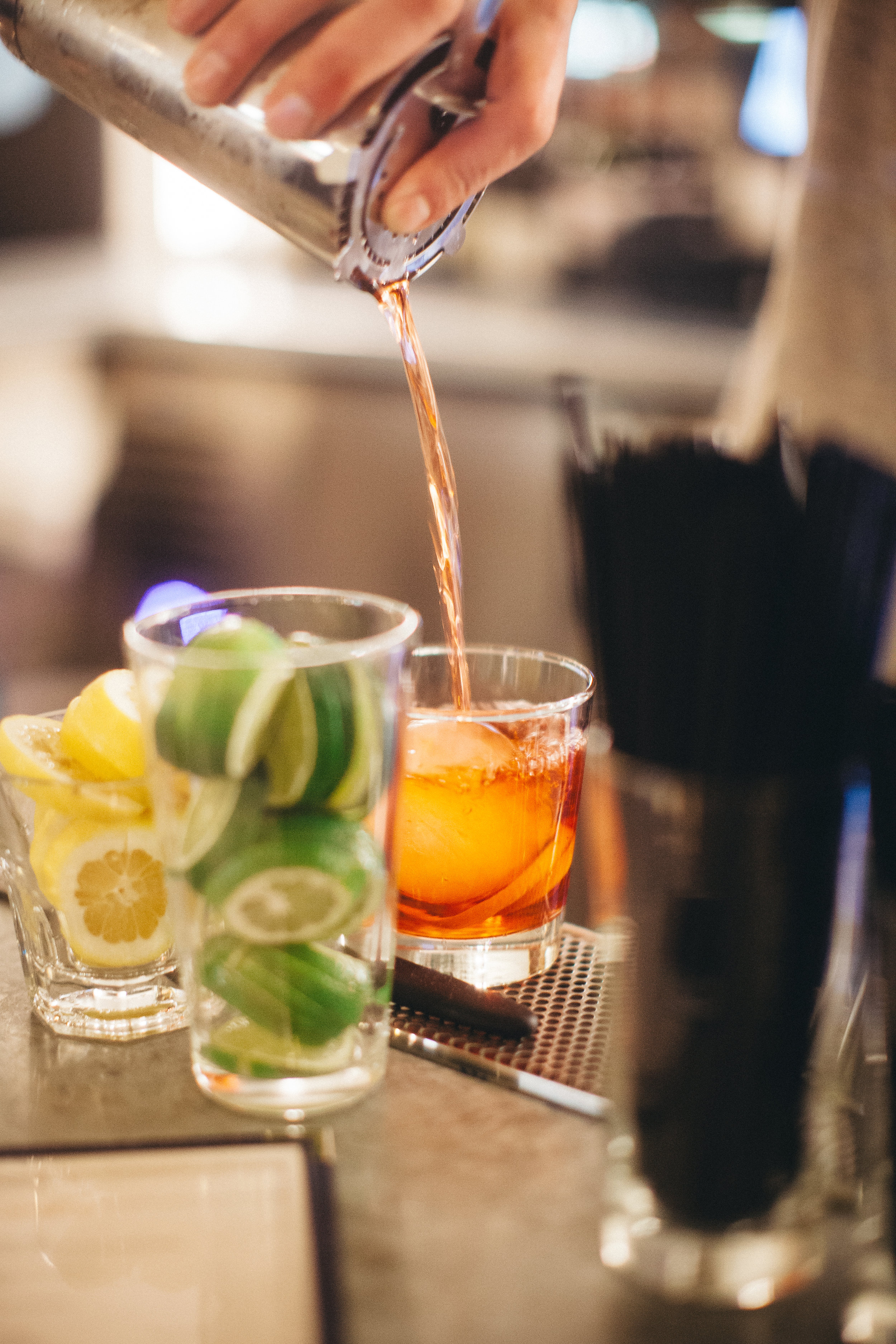 Negroni. Gin, sweet vermouth and Campari.