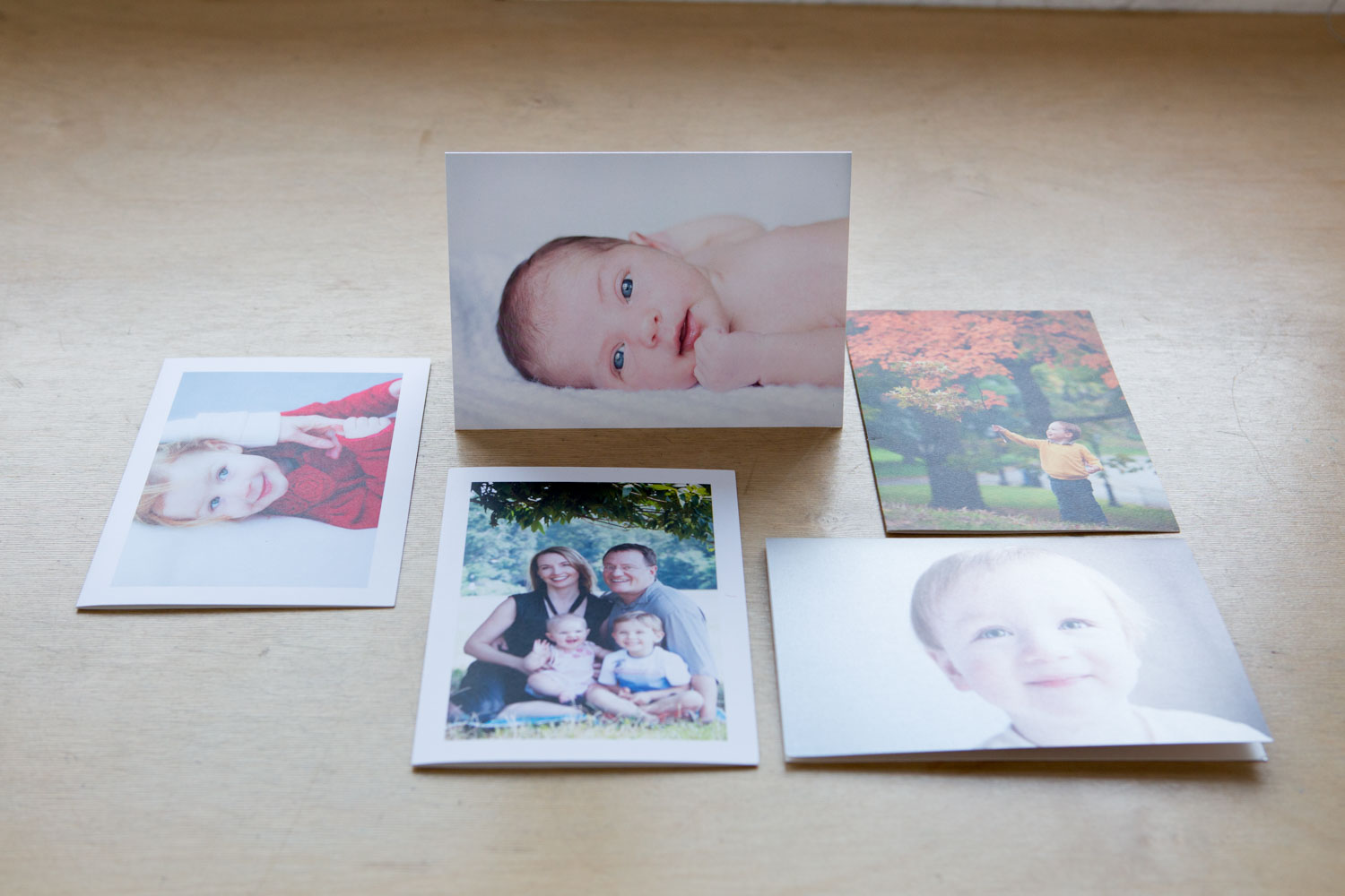 Custom birth announcements and holiday cards