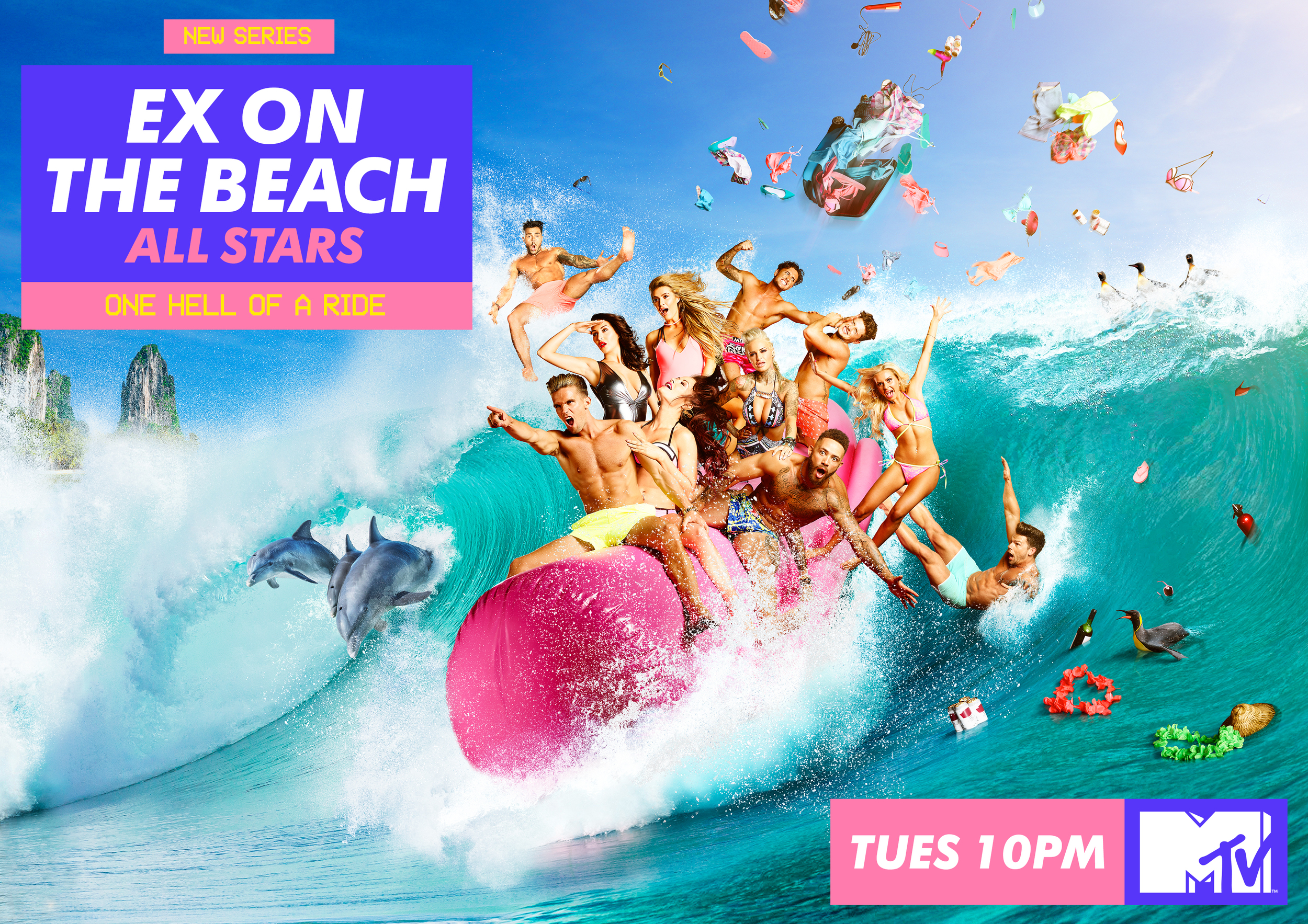 MTV Ex On the Beach - Key Art Campaign - 'One Hell of a Ride'