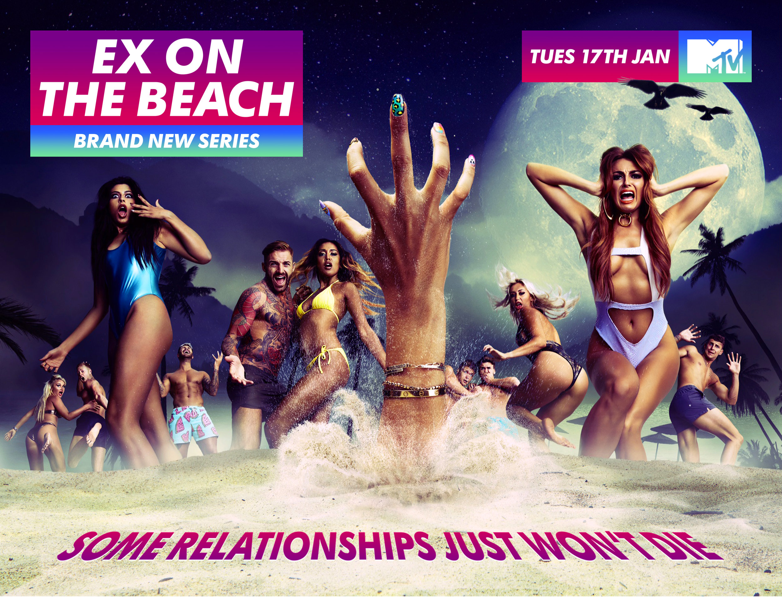 MTV Ex On the Beach Key Art Campaign - 'Some Relationships just won't Die'