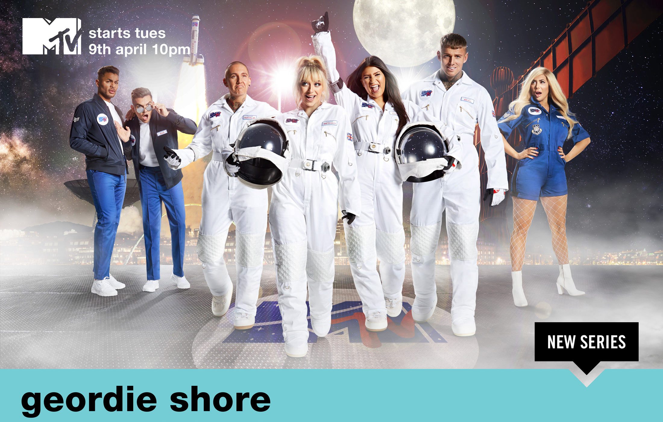 "MTV's Geordie Shore - Key Art Campaign ""Landing on the Toon"""