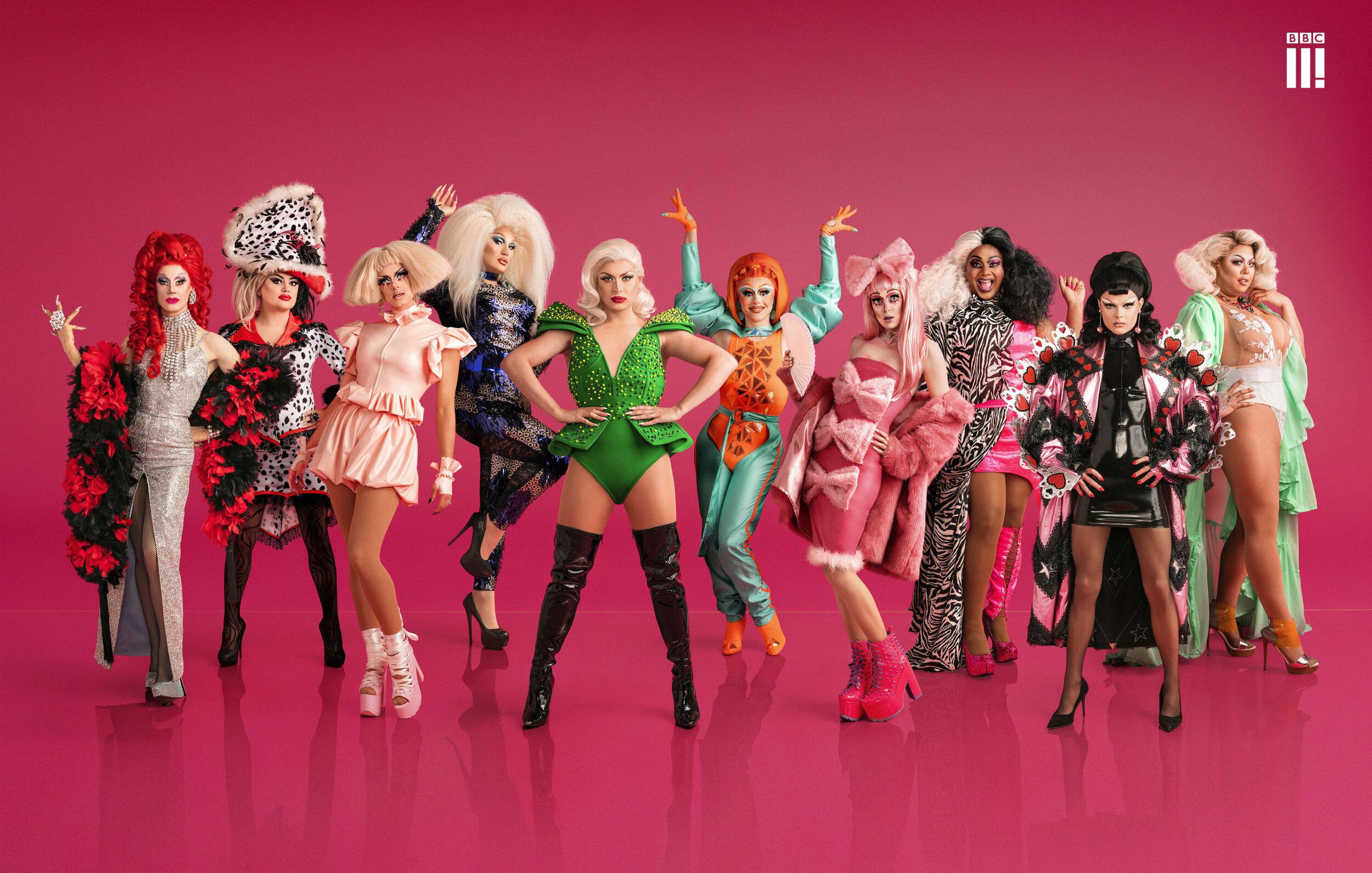 RuPaul's Drag Race UK Season One Promo Art - BBC3