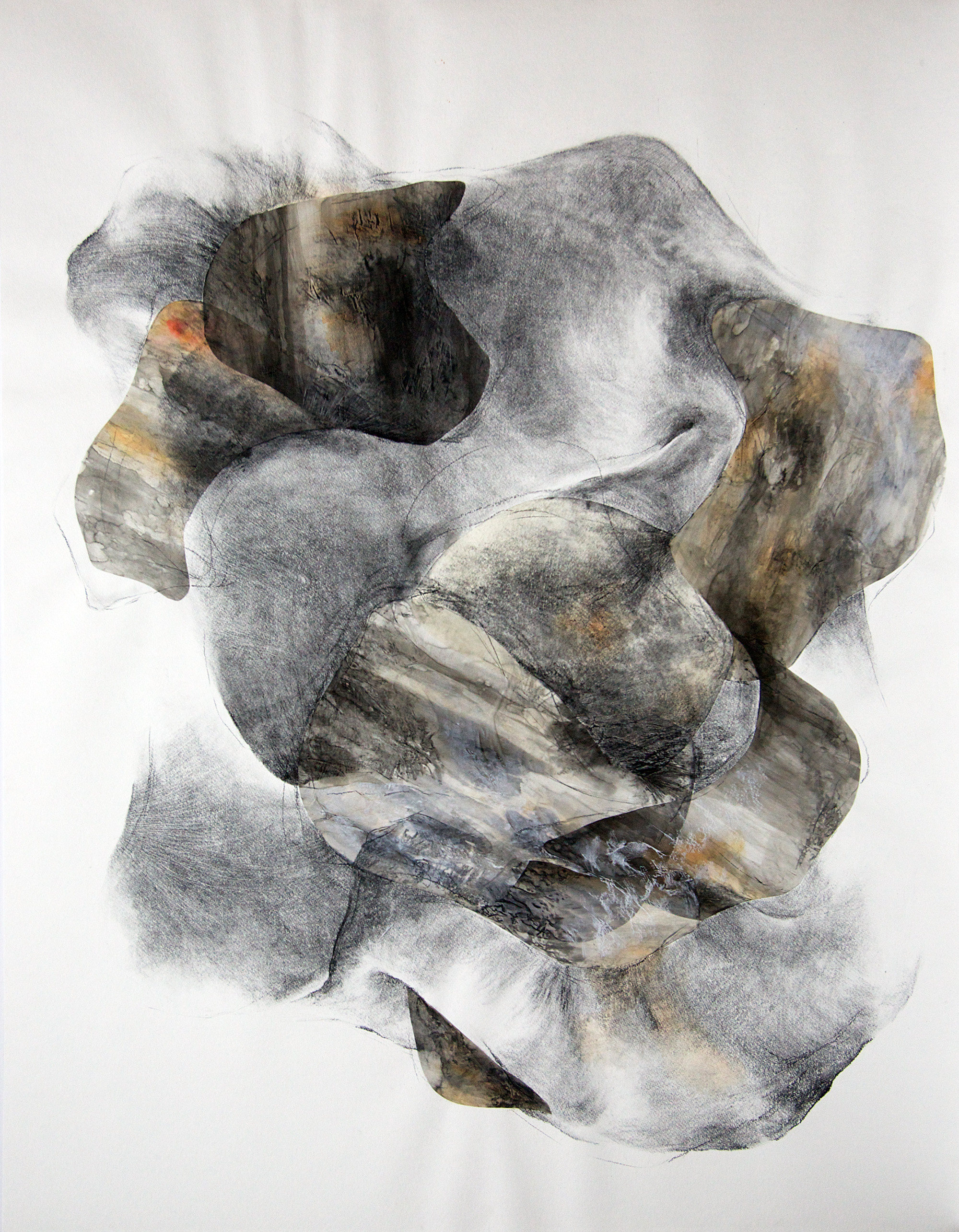 Voracious embrace III  Charcoal, ink and watercolor on paper. 127 x 100cm. 2012