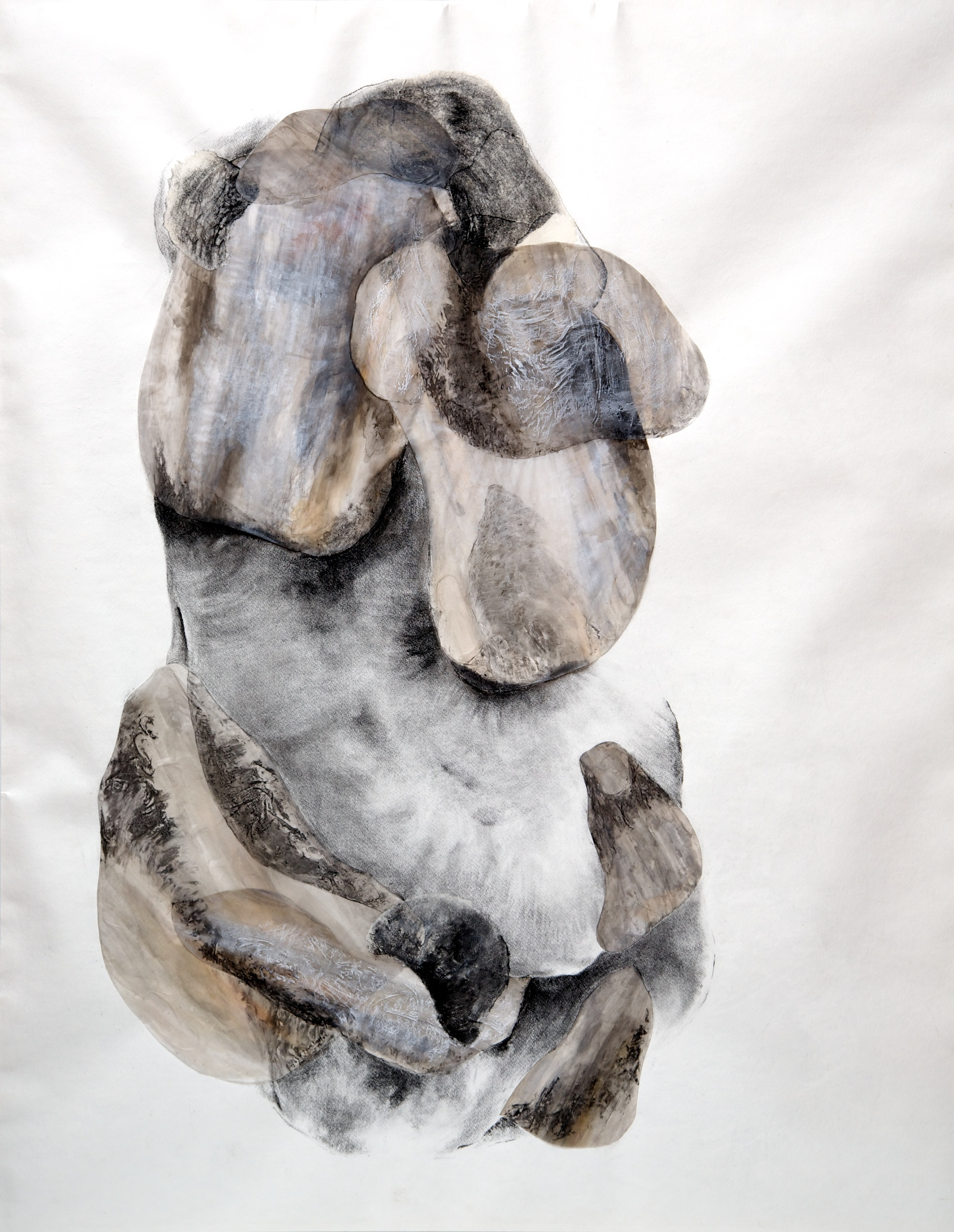 Voracious embrace I  Charcoal, ink and watercolor on paper. 127 x 100cm. 2012
