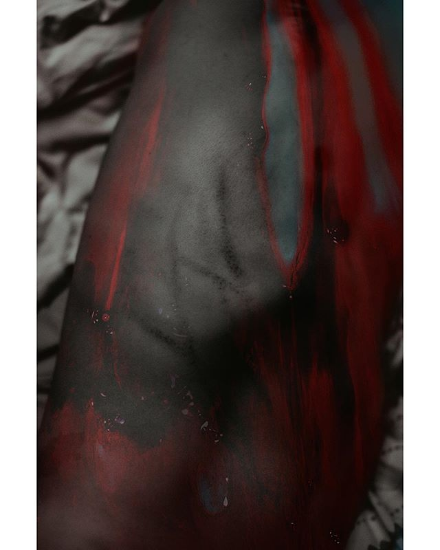 BOMB: blood of my blood. // I've enjoyed this series! I'm selling the first print from it at SKIN this weekend. Come hang with me and the model / photographer / dude who puts up with this artsy fartsy bullshit, @vkimphoto.