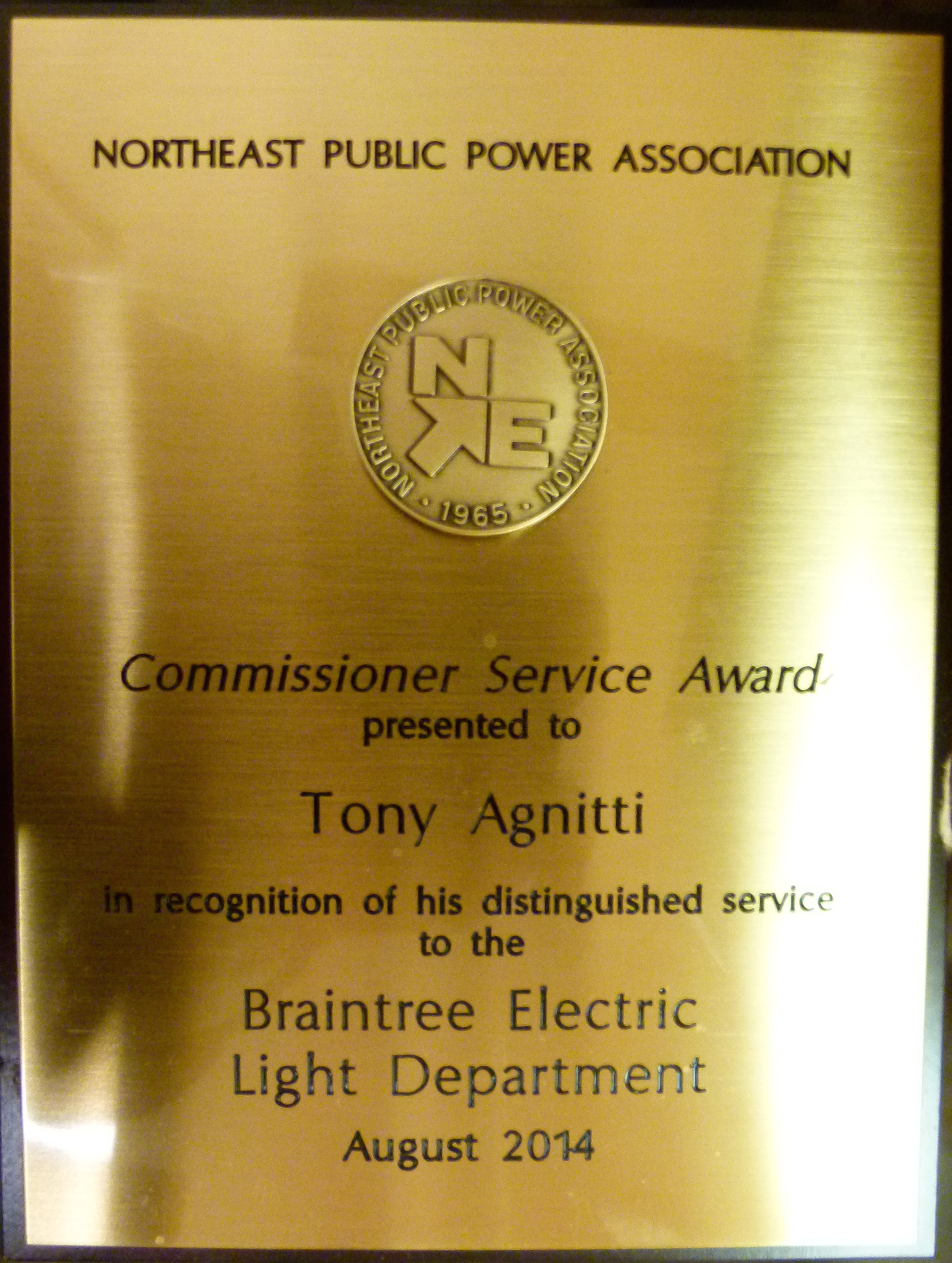 Anthony-Agnitti-Notheast-Public-Power-association-distinguished-service-braintree-electric-light-department