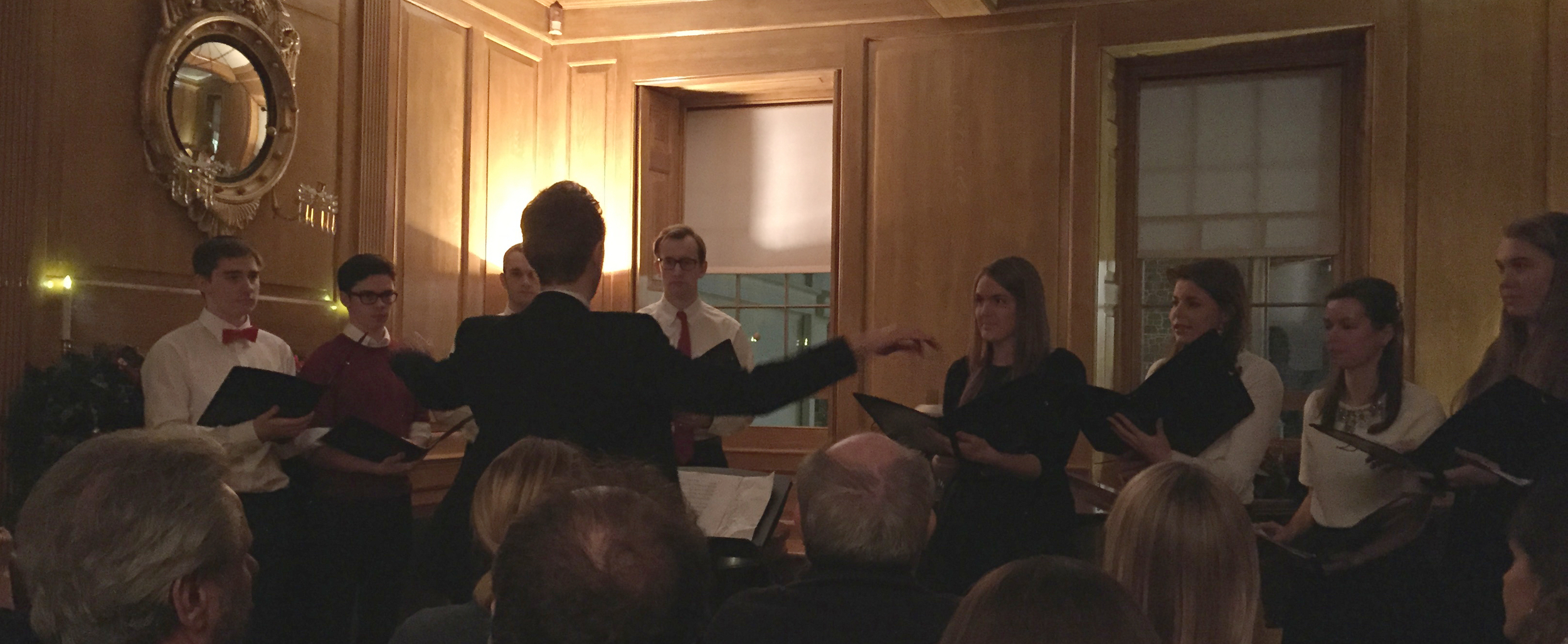 Contempo performing in their first concert, at 16 New Street (a beautiful Georgian House owned by the National Trust for Jersey)