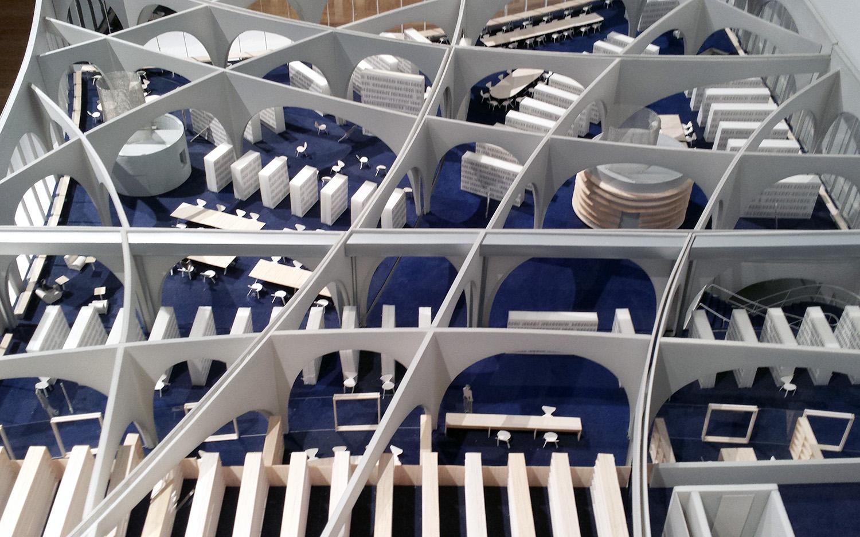 Toyo Ito - model of Tama Art University Library