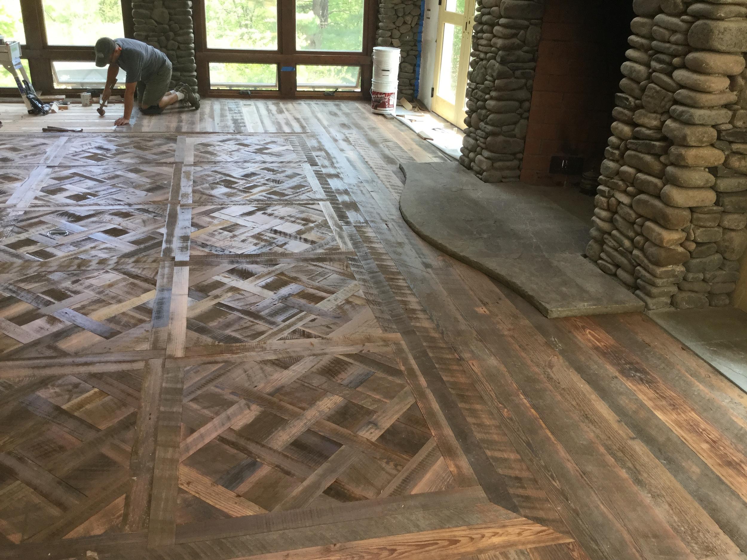 "New ""old"" flooring in Woodstock, NY"