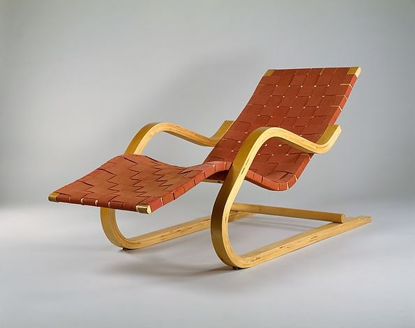 Model 39, designed in 1938. Look at that cantilever...and it's wood!