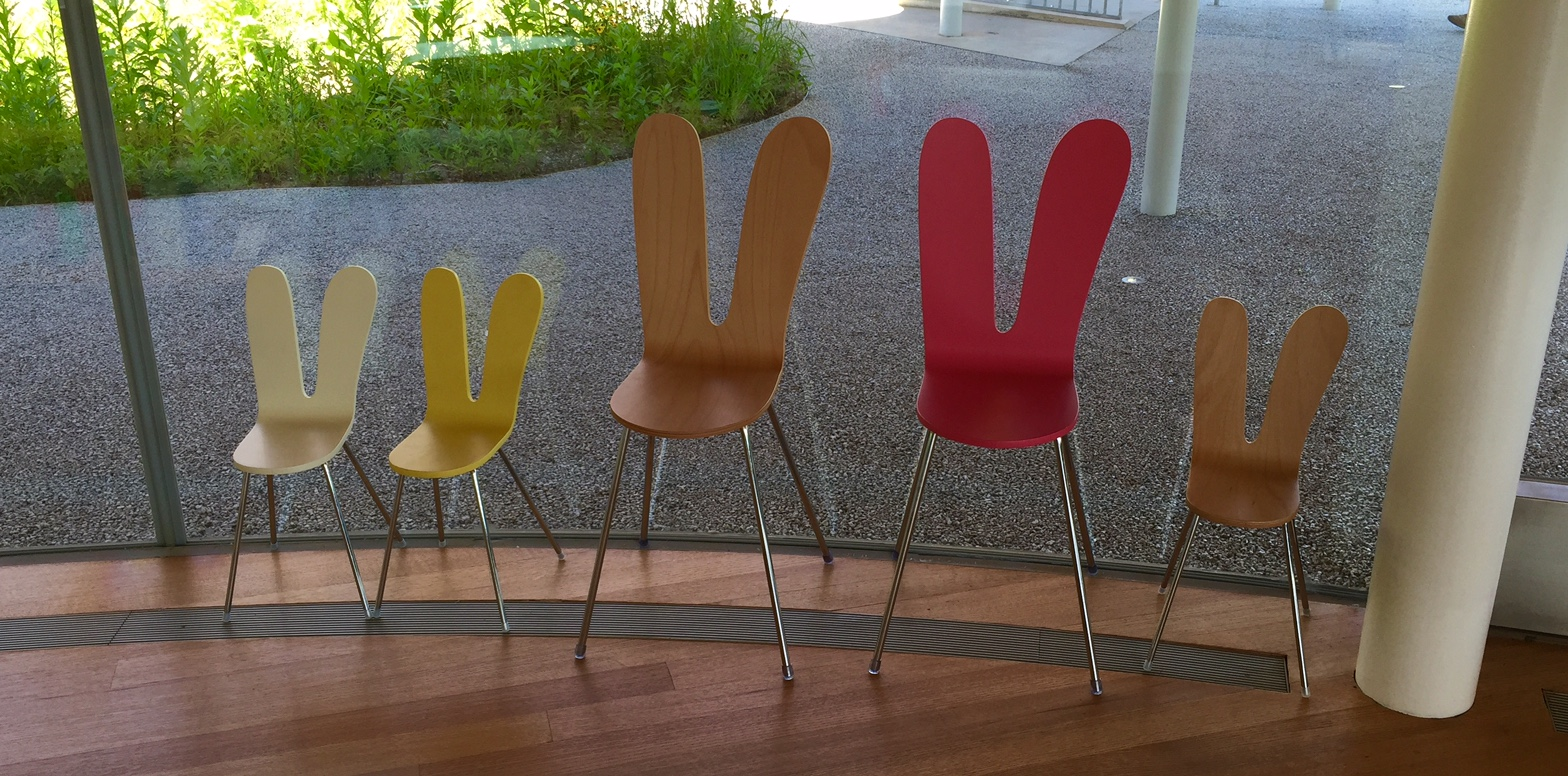 Bunny Ears Chairs (or are those peace signs?)