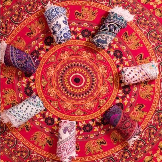 GYPSY DREAM WEAVER    Hand woven mandala tapestry blankets.
