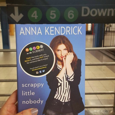 Anna Kendrick signed 20 copies of her new memoir for Books on the Subway to distribute. (Photo credit: Books on the Subway)