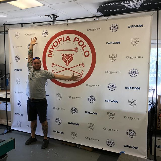 We make big humungous banners! Custom 8x10 step and repeat banners are a cost effective way to promote sponsors for events you have coming up. #banners #stepandrepeat #vectorgraphics #vinylgraphics #customlogo #beseen #shoplocal #printshop #danvers #northshore