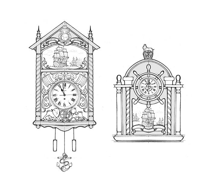Clock concept sketch