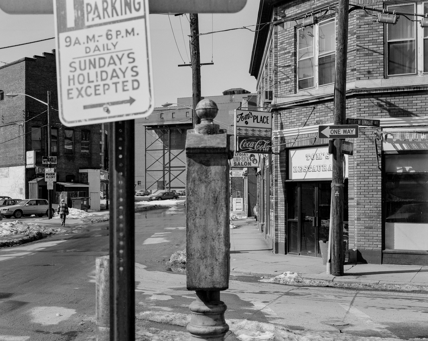 At Summer St. and North Union, downtown Pawtucket, 1994