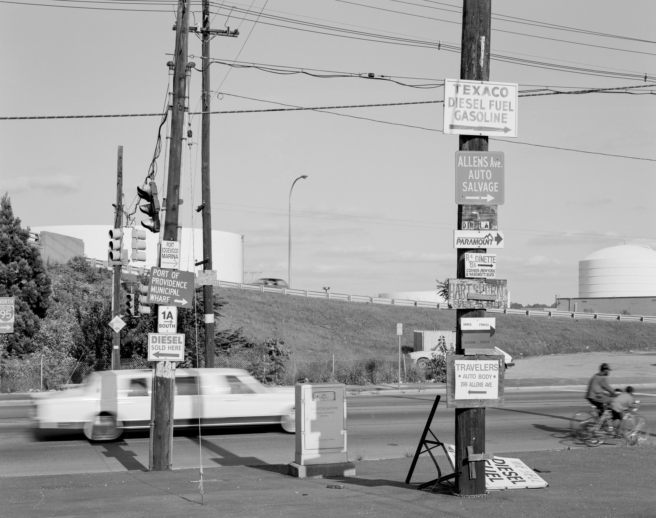 Allens Ave, 1992 #2 4x5 Tri-X
