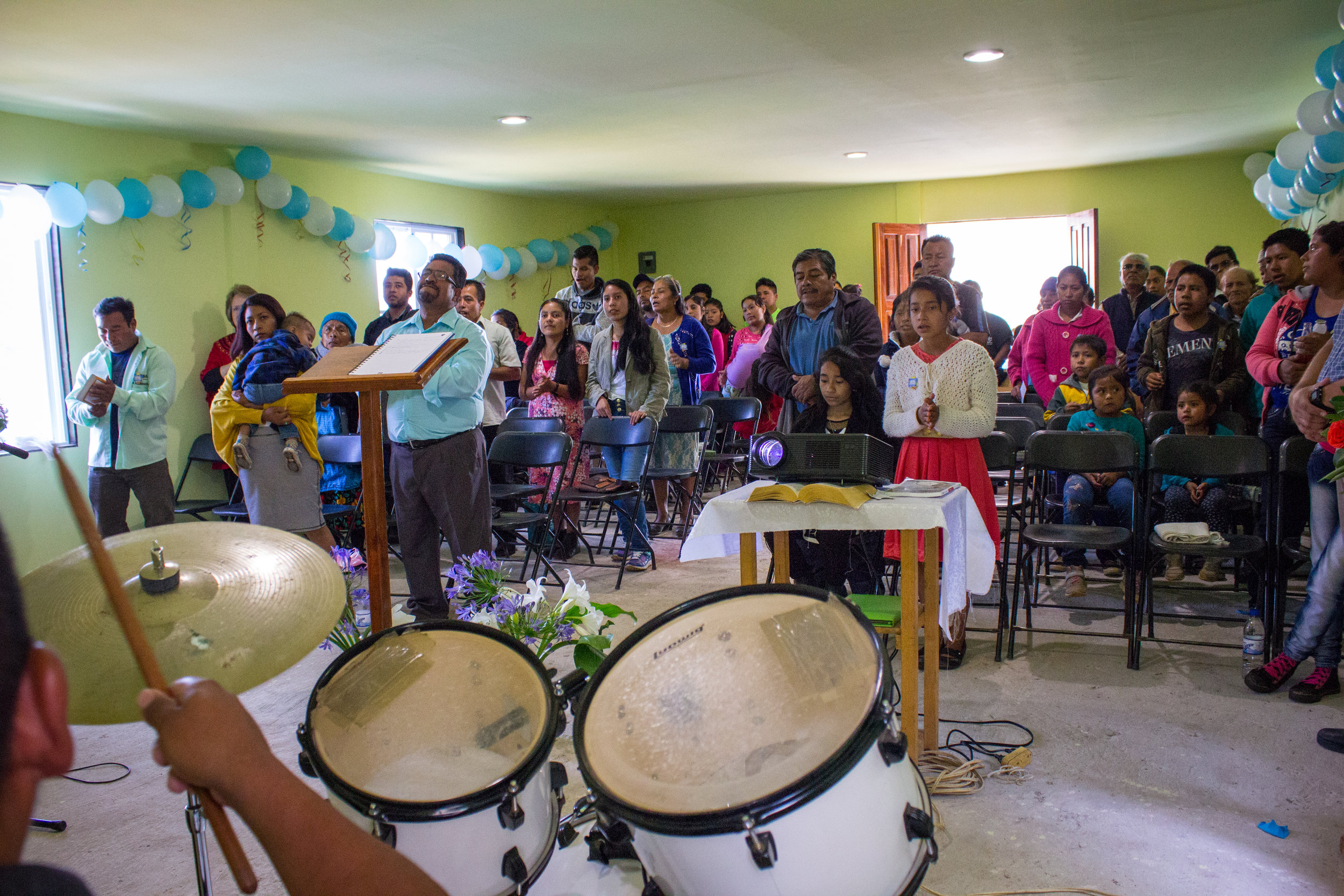 A packed house. Many of the families that Senen and Bernardita invited have expressed an interest in the church, but are not considered Christians.