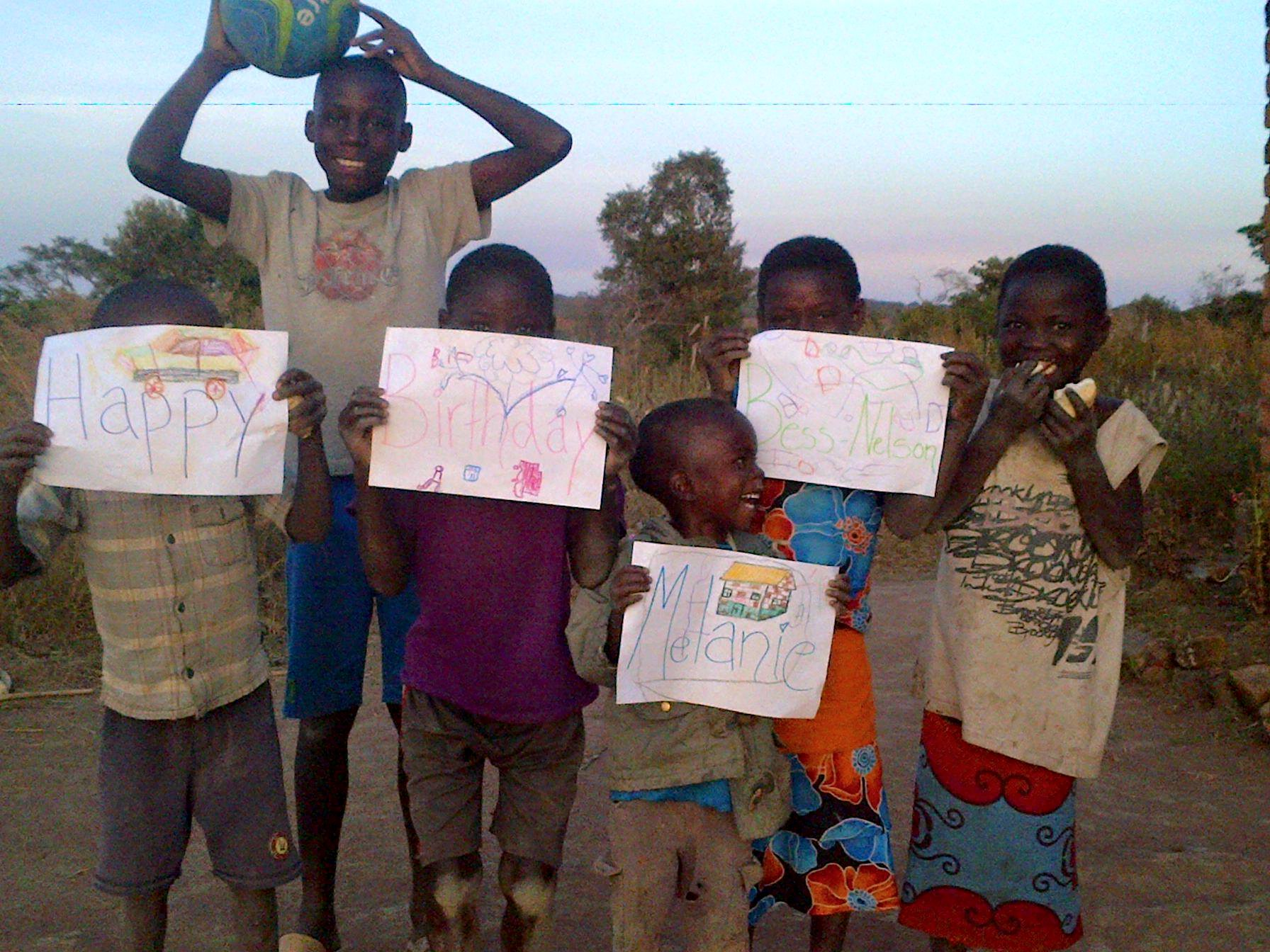 On my birthday last year, they made these little signs to tell me Happy Birthday and then Kate sent a video of them singing to me.  My heart exploded.  These kids, they are the future of Zambia and they deserve the best shot possible.