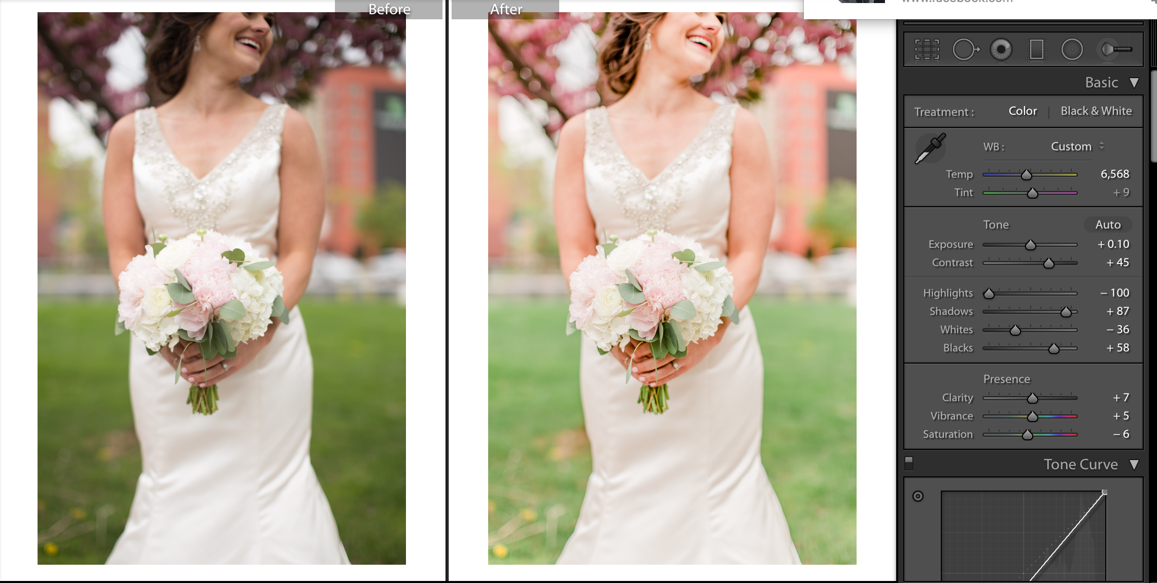 light and airy before and after wedding portrait