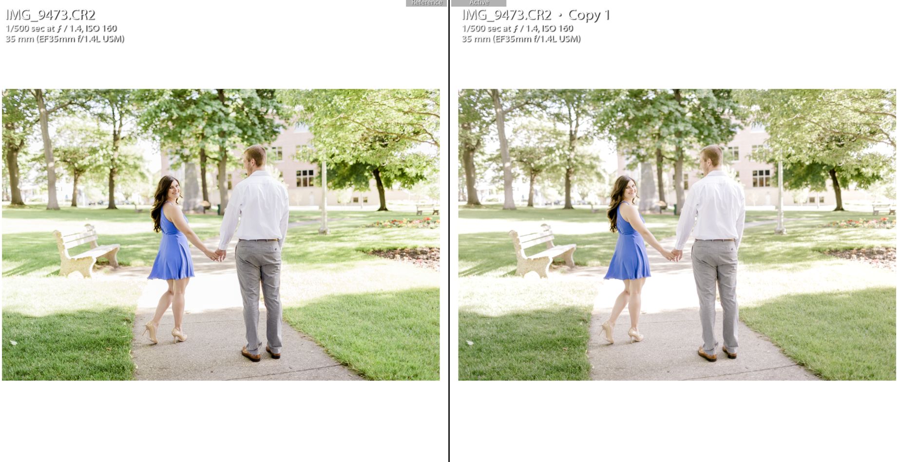 Editing - Mastin Preset VS Kindred Preset — Melanie Bess - Editor
