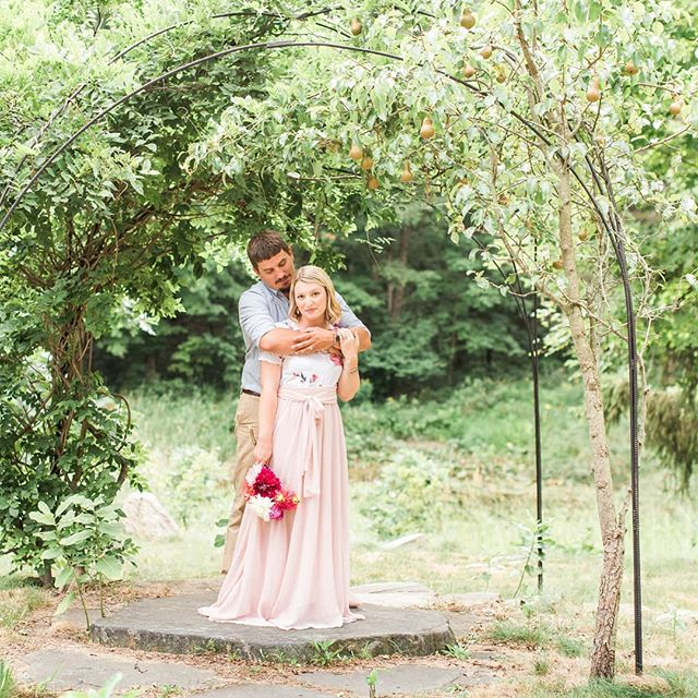 "Yesterday was 7 years since we said ""I do"" on that big stone and I would do it all over again. ♥️ This last year brought us our baby girl so I can't wait to see our parenting skills develop together over this next year @haightswanderings . 👊😘 . PC: @stephannephoto 💜 . . . . . . . . . #ourforever #anniversary #7yearstogether #newparents #mompreneur #ourlove #ourlovestory #weddinganniversary #ourlittlefamily #chasingslow #chasinglight #familyphotography #michiganphotographer #ourreallife #homeiswhereveryouare"