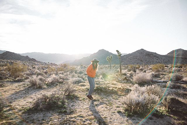 Excited to plan some summer travel. Me in Joshua Tree captured by @janinasibbelbecker