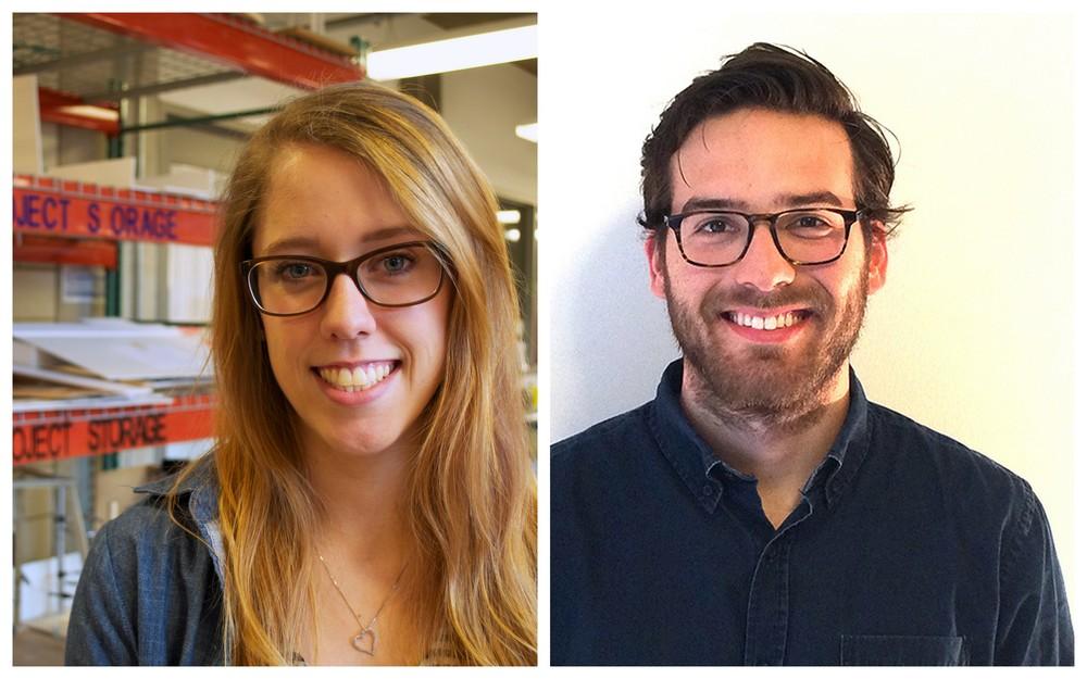Summer 2014 Northwestern University Masters Students: Brittany Murphy (L), Brandon Williams (R)