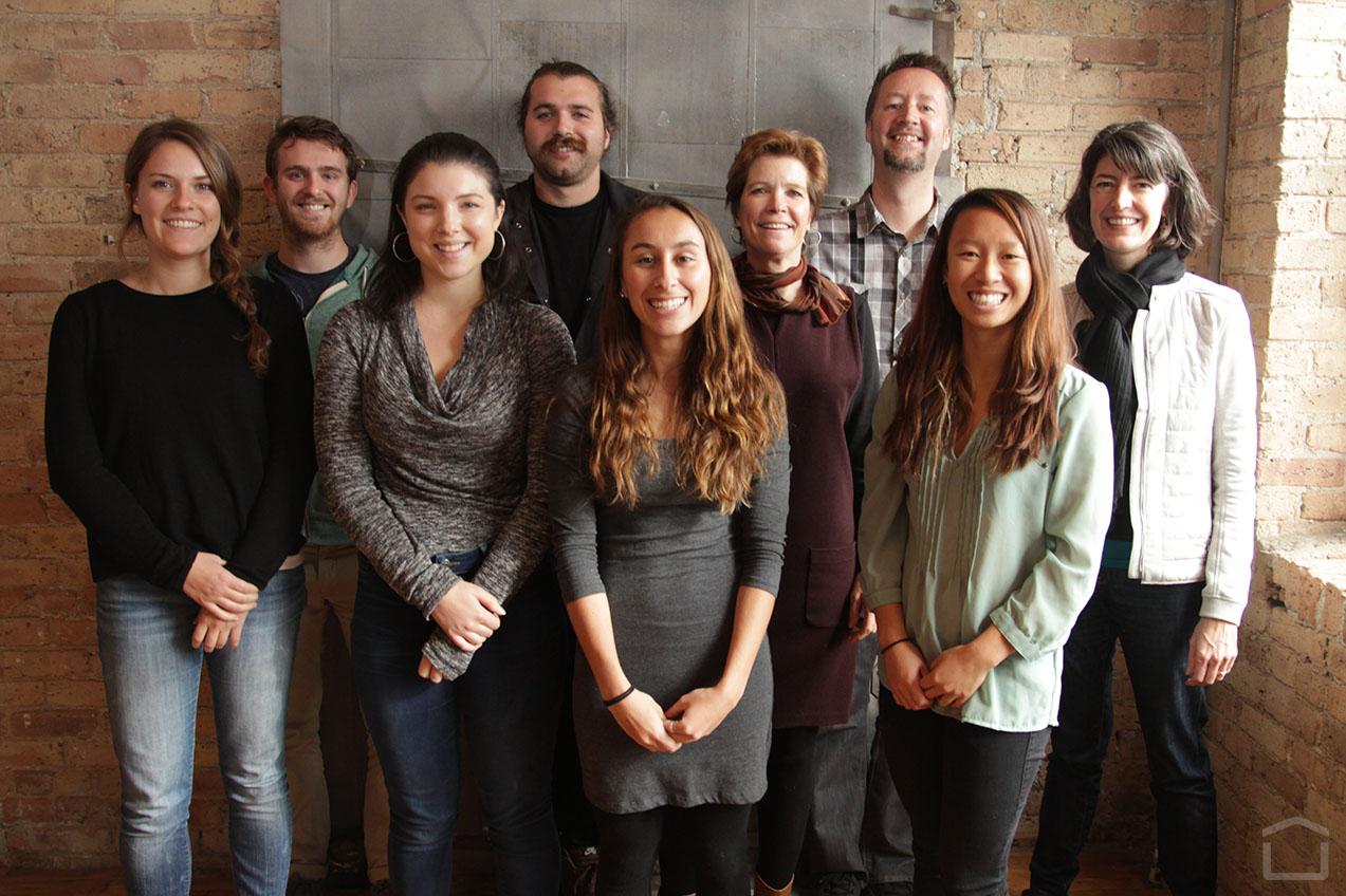 Fall 2014 VATech/Chicago Studio Team & DesignHouse: (L to R): Claire Butterfield, Chris Kitchen,  Morgan Matt , Caleb Rancourt, Stephanie Pekala, Susan Estes, Paul Hatch, Amanda Phung, Pam Daniels