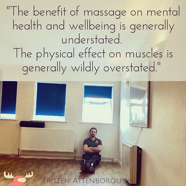 Massage is utterly great, just not necessarily in the way you might think. Think less muscle, tendons, fascia think more nervous system, brain and the feeling of ahhhhhh...😌 #MoreSciencey #MoreHonest  https://www.massagemoose.co.uk/