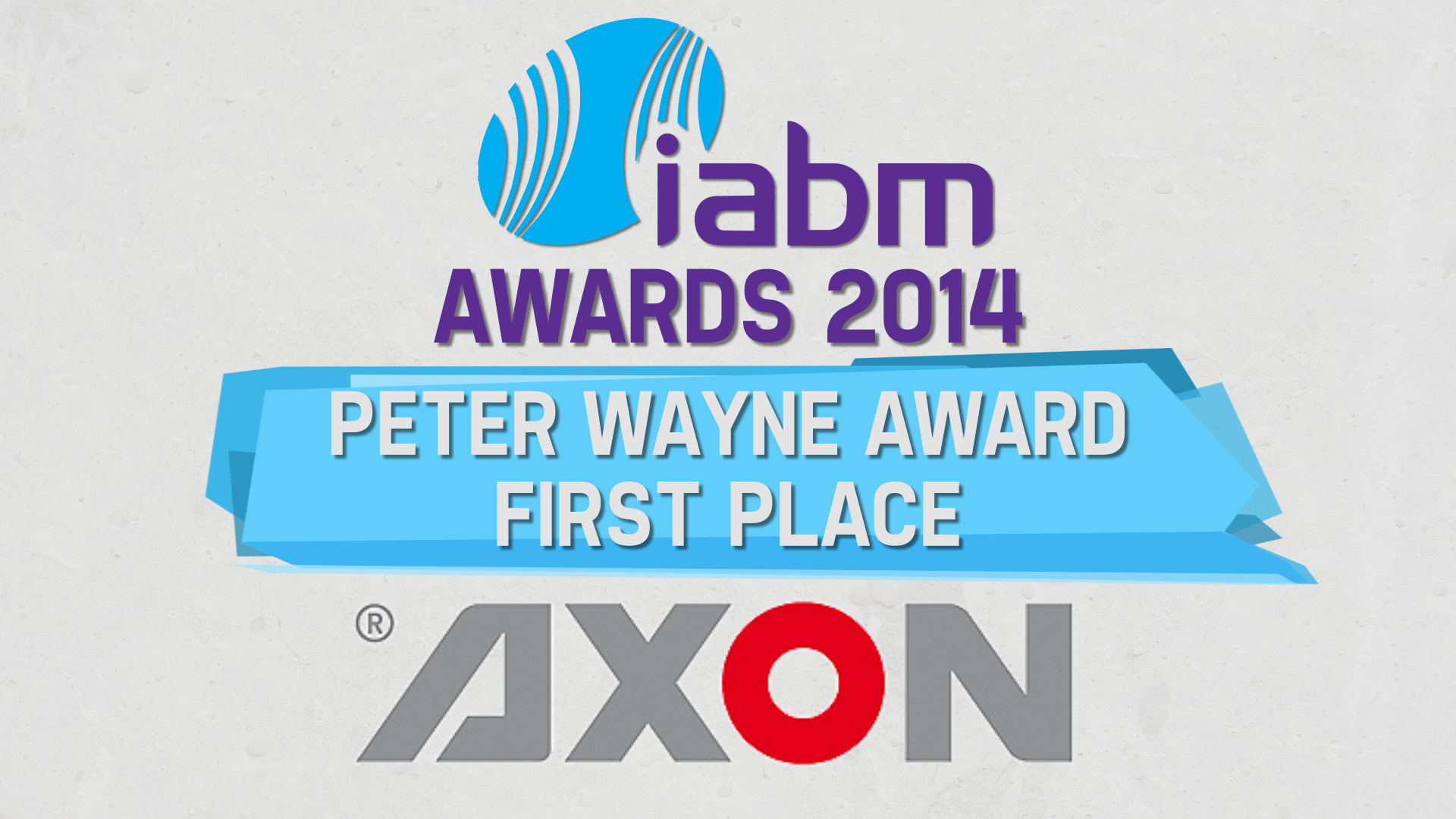 axon peter wayne iabm award 2014 winner