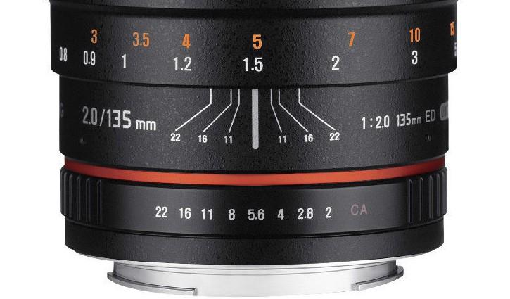 Samyang 135mm F/2 lens