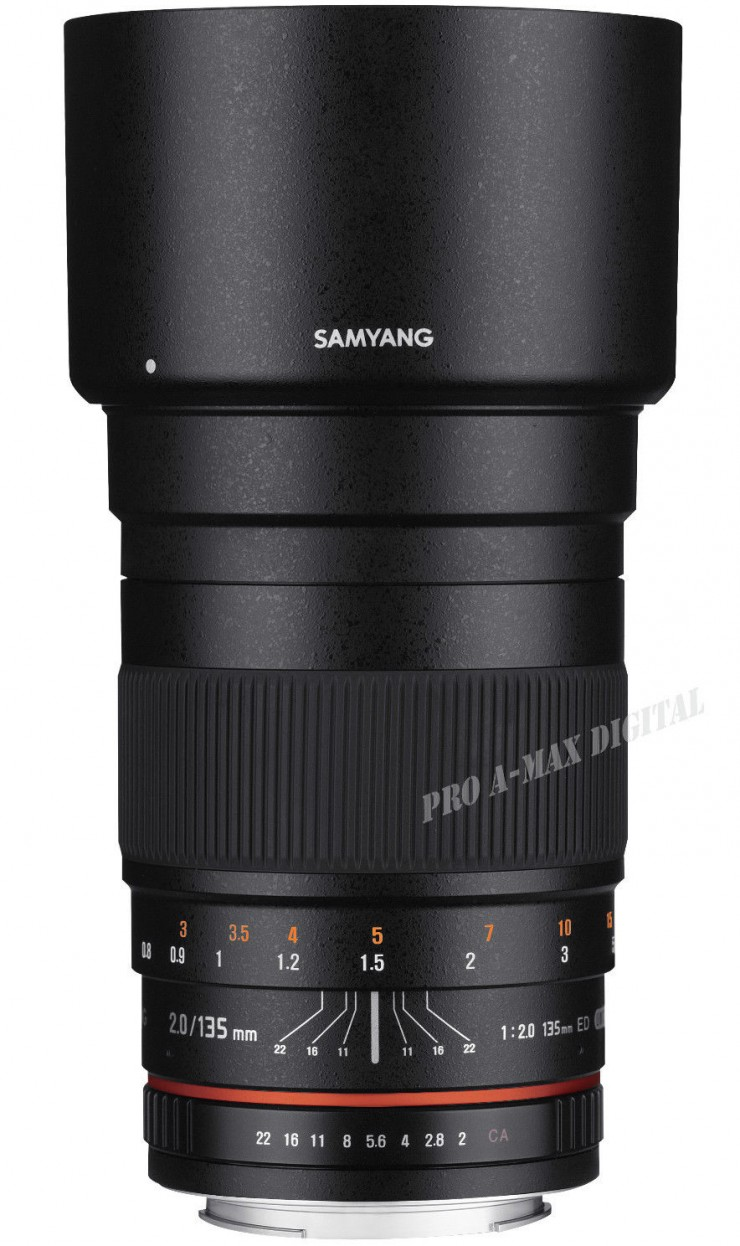 Fill Samyang 135mm F/2 lens