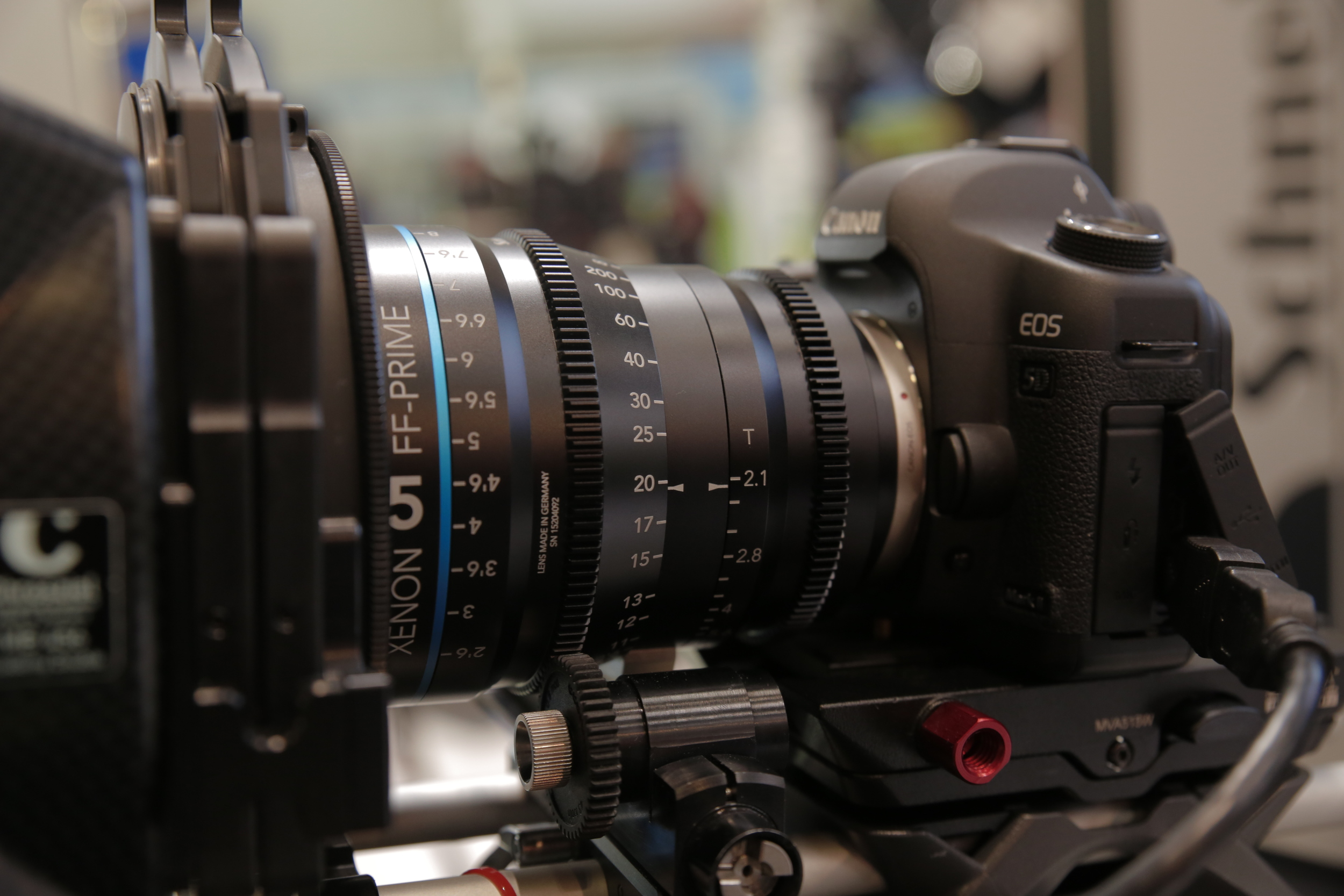 My highlights of last years BVE: Schneider cinema optics at Manfrotto