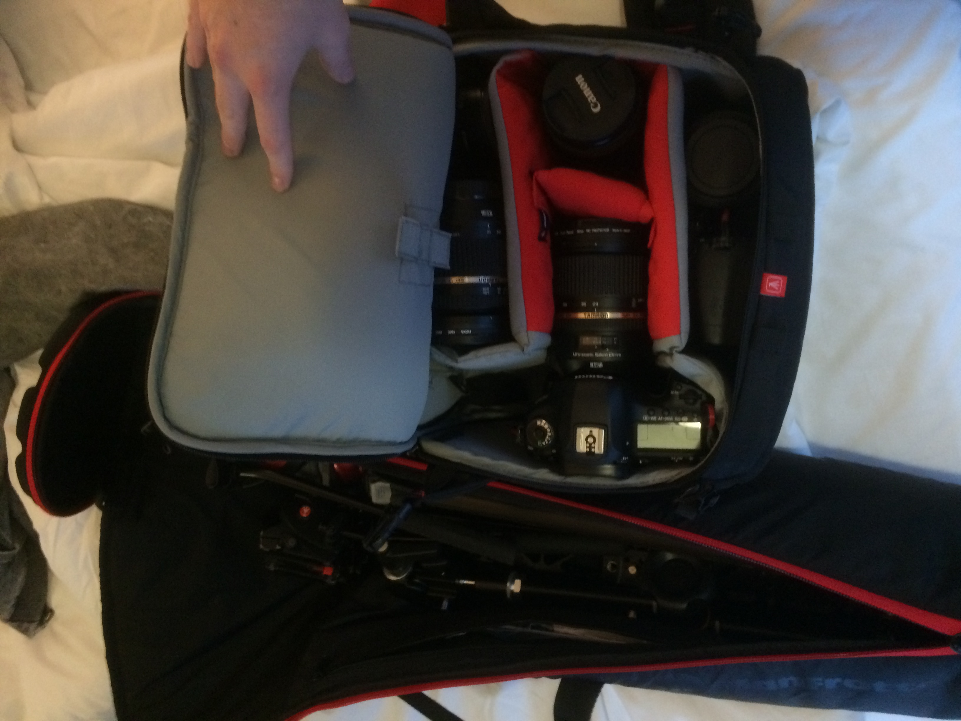 Major Manfrotto fest at BVE - all my gear is Manfrotto!