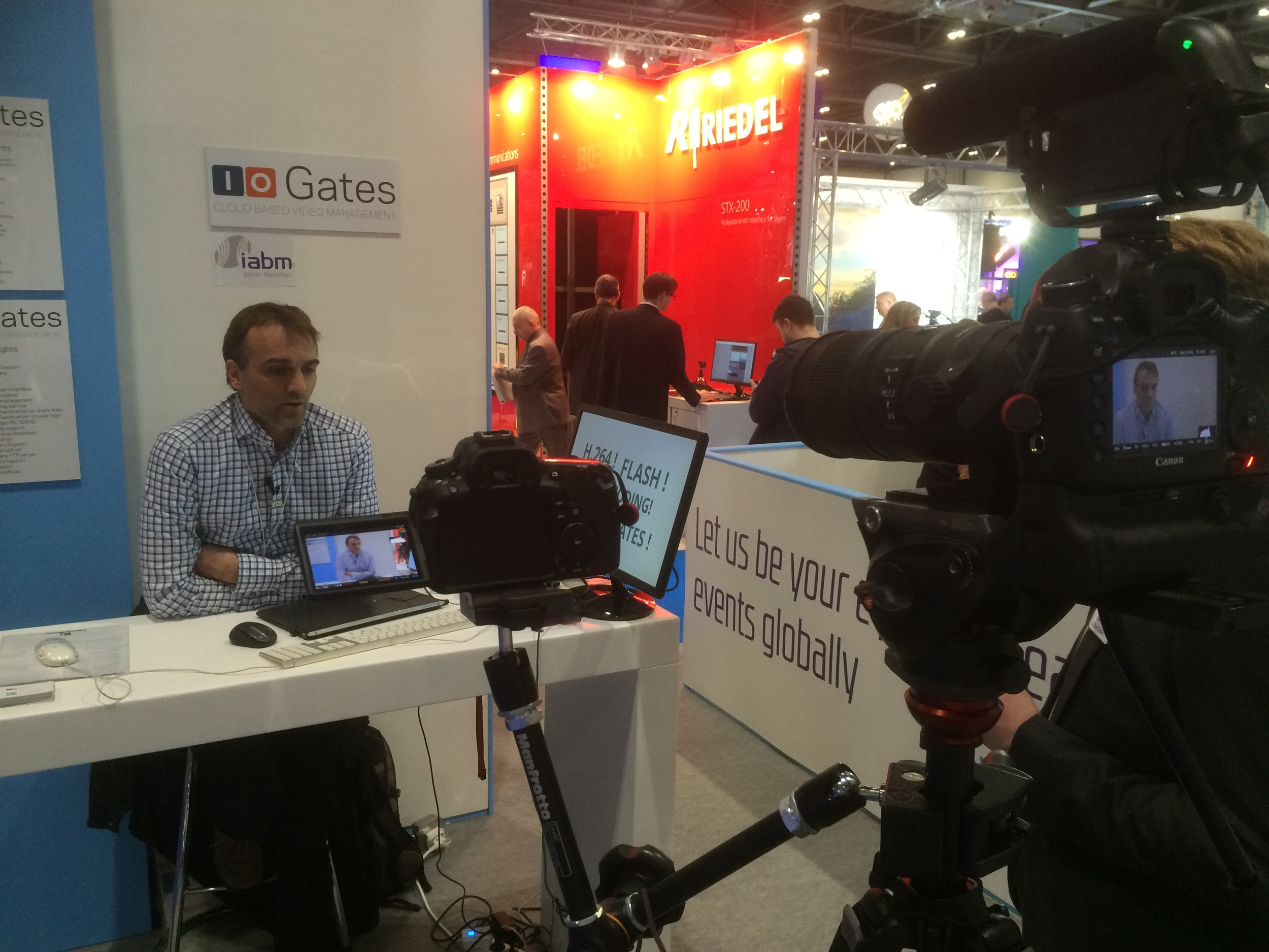 Jesper from ioGates talks to IABM TV about their BVE show experience and benefits of being a member
